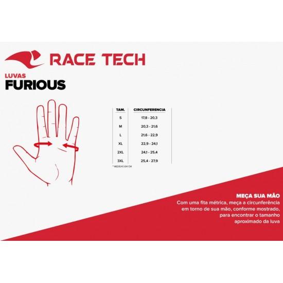 LUVA RACE TECH FURIOUS PRETA